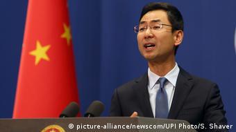 China Peking Sprecher Außenministerium Geng Shuang