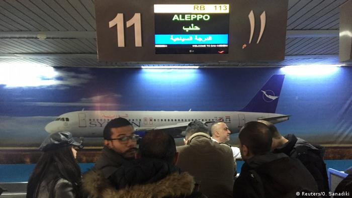 Syrien Damaskus | Flughafen | Passagiere mit Ziel Aleppo