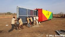 Solartainer solar power unit installation in Mali