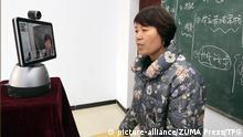 09.02.2020 February 9, 2020, Yuncheng, Shanxi, China: A teacher is teaching students by using multi-media network education system because of the novel coronavirus pneumonia in Yuncheng,Shanxi,China on 09th February, 2020. (Credit Image: © TPG via ZUMA Press  