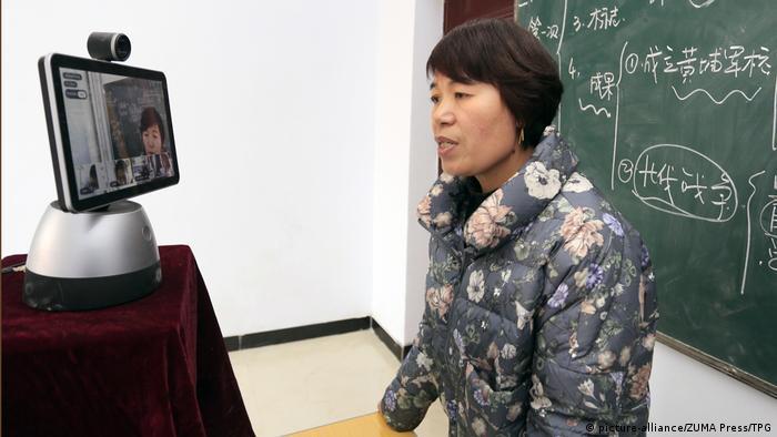 China Shanxi Videounterricht wegen Corona (picture-alliance/ZUMA Press/TPG)