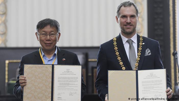 Tschechien Prag | Zdenek Hrib, Bürgermeister & Ko Wen-je, Bürgermeister Taipeh