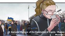 Szenen aus dem Bilderbuch über Revolution auf Maidan-Platz in Kiew-2014 © National Museum of the Revolution of Dignity (Maidan Museum)