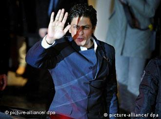 Indian actor Shah Rukh Khan arrives for the photocall of the movie My Name Is Khan at the Berlinale