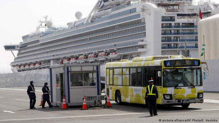 Japan Kreuzfahrtschiff Diamond Princess (picture-alliance/AP Photo/E. Hoshiko)