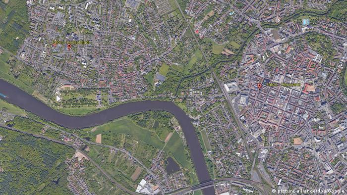Kota Hanau tampak dari udara