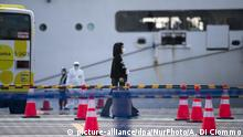 Japan Yokohama | Coronavirus | Kreuzfahrtschiff Diamond Princess (picture-alliance/dpa/NurPhoto/A. Di Ciommo)