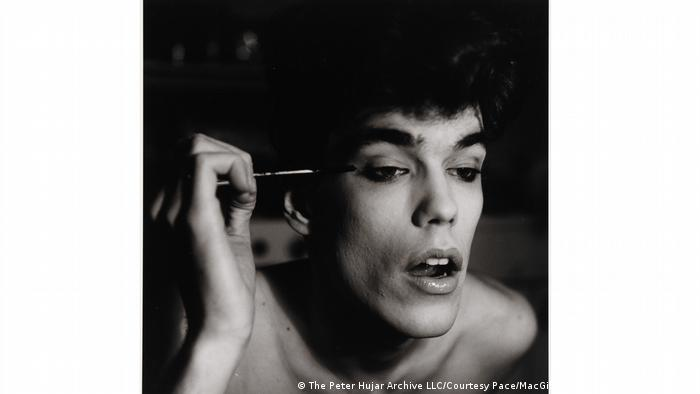 Young man applying makeup (The Peter Hujar Archive LLC/Courtesy Pace/MacGill Gallery and Fraenkel Gallery)