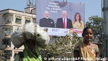 Indien Ahmadabad vor Besuch Donald Trump