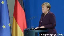 Deutschland Berlin | Statement Angela Merkel, Bundeskanzlerin | Hanau Schießerei