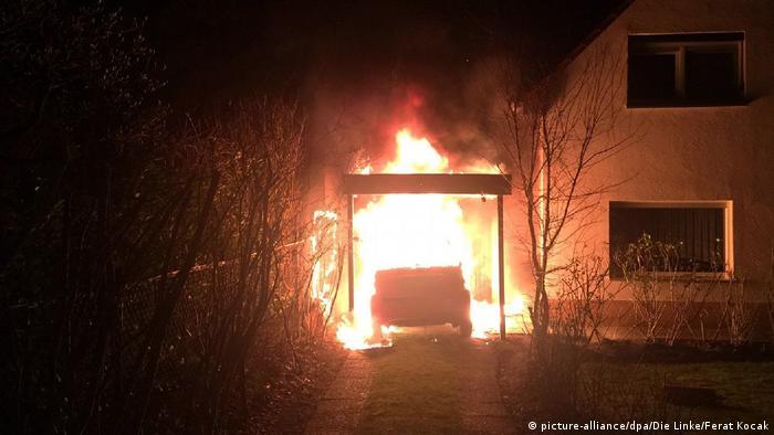 Deutschland Rechte Anschläge in Neukölln | Anschlag auf Garage von Linken-Politiker Ferat Kocak