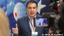 4.2.2020 Rzeszów, Vorkarpaten, Polen Der Jurist Micheil Saakaschwili (geboren 1967 in Tiflis) ist georgischer und ukrainischer Politiker. Er war Präsident von Georgien (2004-13) und Gouverneur der Oblast Odessa in der Ukraine (2015-16). Jetzt gibt er, wie er selbst sagt, von Zeit zu Zeit Ratschläge an alle, die in der derzeitigen ukrainischen Regierung auf ihn hören wollen.