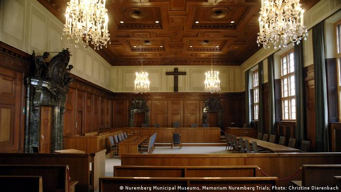 The courtroom of the Nuremberg trials as it looks today