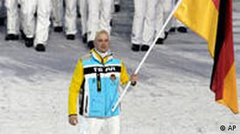 Germany's Winter Olympic team at the opening ceremony of the games in Vancouver
