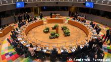European Union leaders meet during a round table at an EU summit in Brussels, Belgium February 20, 2020. Riccardo Pareggiani/Pool via REUTERS