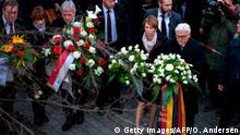 Solidaritätsbekundung nach Schießerei in Hanau: Frank-Walter Steinmeier (Getty Images/AFP/O. Andersen)