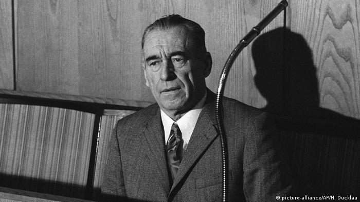 Franz Stangl during his trial in Düsseldorf