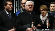 Solidaritätsbekundung nach Schießerei in Hanau: Frank-Walter-Steinmeier