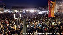 Solidaritätsbekundung nach Schießerei in Hanau
