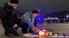 Berlin | Solidaritätsbekundung nach Schießerei in Hanau (DW/F. Hoffmann)