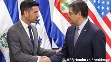 Honduras Chad Wolf und Juan Orlando Hernandez