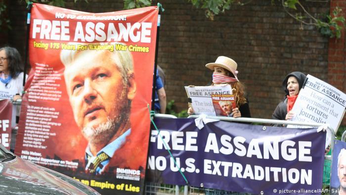 Prosvjedi u Londonu protiv izručenja Juliana Assangea (srpanj 2019.)