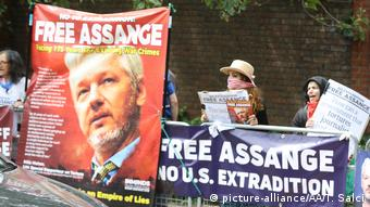 UK London Demonstration für Julian Assange (picture-alliance/AA/T. Salci)