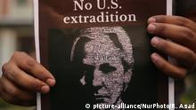 Bangladesch Protest gegen Inhaftierung von Julian Assange