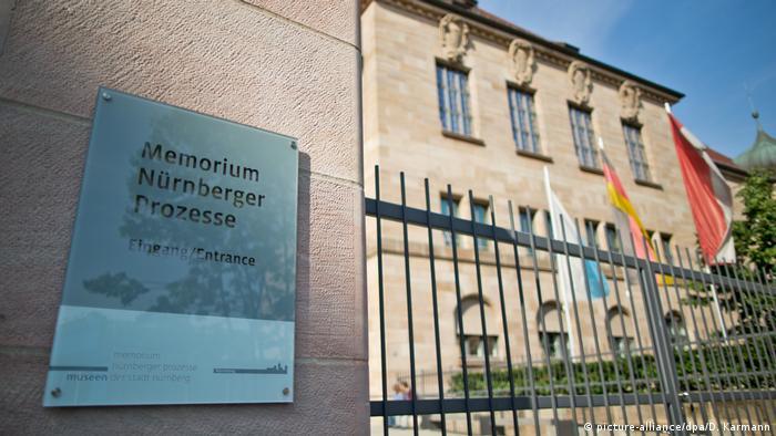 The entrance of the Memorium Nuremberg Trials museum