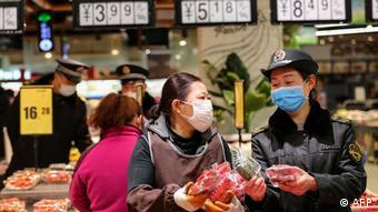 China Huaibei Einkäufe im Supermarkt