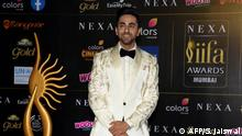 (FILES) This file photo taken on September 18, 2019 shows Bollywood actor Ayushmann Khurrana arriving for the 20th International Indian Film Academy (IIFA) Awards at the NSCI Dome in Mumbai. - The film Shubh Mangal Zyada Saavdhan (Be Extra Careful About Marriage) will be released on February 21, 2020, and stars popular actor Ayushmann Khurrana as a young man bucking social disapproval to be with his beloved -- a time-tested Bollywood plotline, except the object of his affection is male. (Photo by Sujit JAISWAL / AFP)