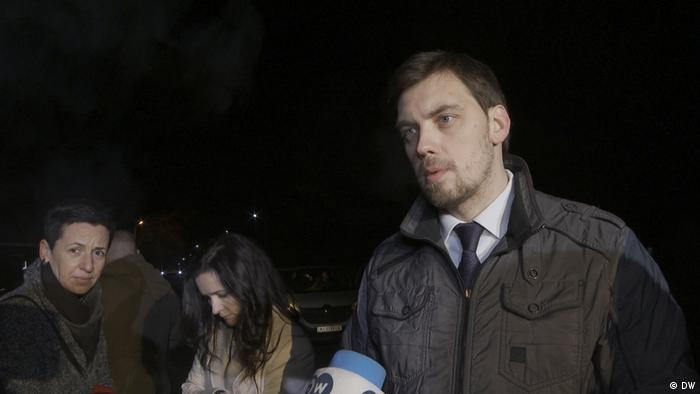 Український прем'єр Олексій Гончарук у Нових Санжарах