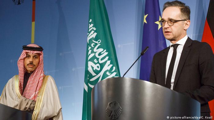 Berlin Außenminister Heiko Maas trifft saudi-arabischen Amtskollegen Farhan (picture-alliance/dpa/C. Koall)