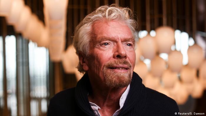 Richard Branson on the cruise ship Scarlet Lady