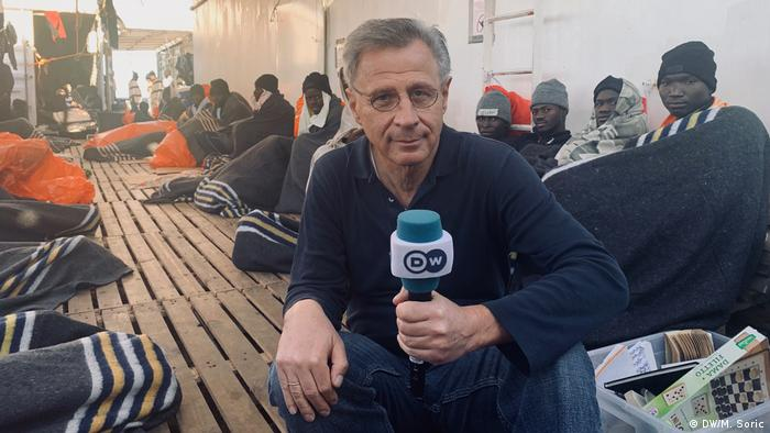 DW-Reportage-Reise Miodrag Soric | Rettungsschiff Ocean Viking (DW/M. Soric)