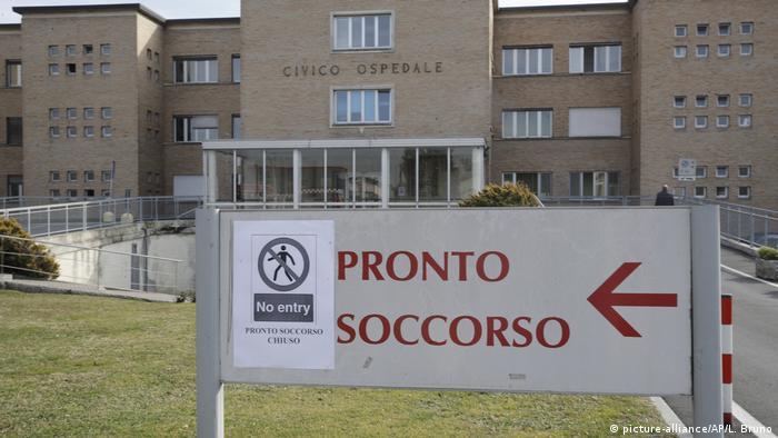 بیمارستانی در منطقه لومباردی ایتالیا که ۱۵ مورد ابتلا به ویروس کرونا در آن شناسایی شده است