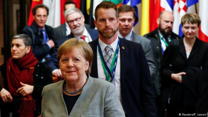 Angela Merkel en cumbre sobre presupuesto en Bruselas.