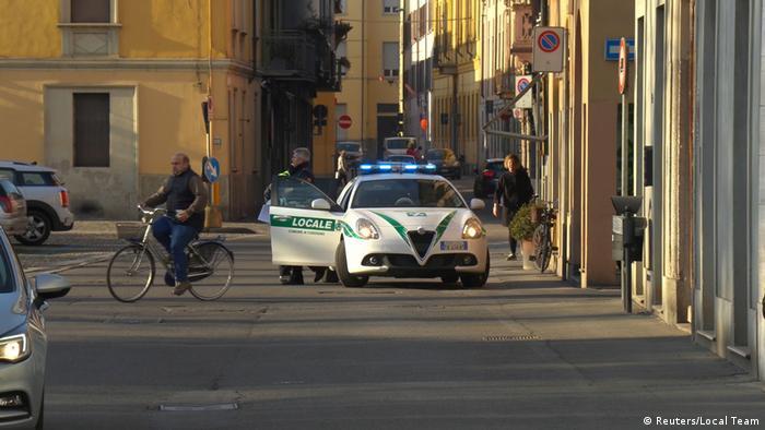 Policijsko vozilo u mjestašcu Codogno