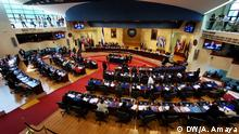 pictures of the Salvadorian Parliament during the impeachment of the Health minister.