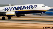 FILE PHOTO: A Ryanair Boeing 737 takes off at Palma airport