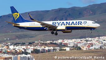 Самолет лоукостера Ryanair