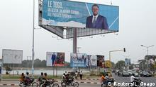 19.02.2020 A billboard of president Faure Gnassingbe, presidential candidate of UNIR (Union for the Republic), is pictured on a street in Lome, Togo, February 19, 2020. Picture taken February 19, 2020. REUTERS/Luc Gnago