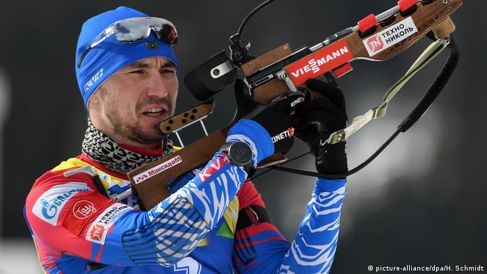 Російський біатлоніст Олександр Логінов