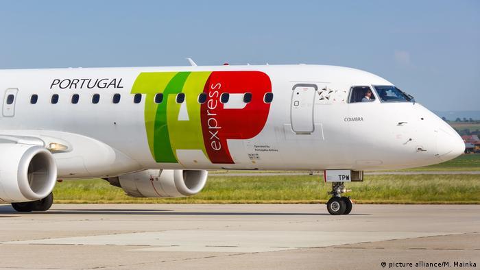 Flugzeug der portugiesischen Airline TAP
