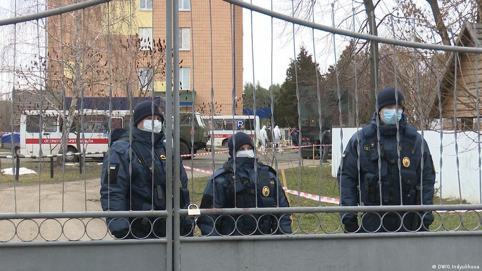 Ukraine Coronavirus l Dorf Novi Sazhary - Evakuierte aus Wuhan