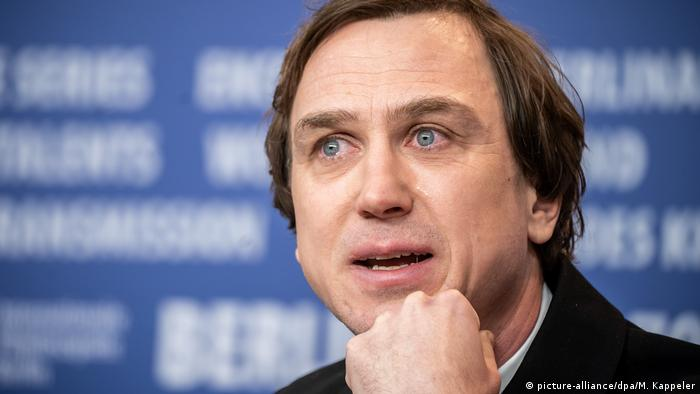 Lars Eidinger at the Berlinale press conference (picture-alliance/dpa/M. Kappeler)