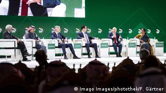 Treffen der G20-Finanzminister in Riad   Pascal Saint-Amans, Mohammed Al-Jadaan, Bruno Le Maire, Steven Mnuchin, Olaf Scholz und Nirmala Sitharaman