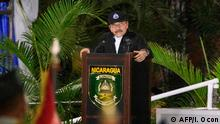 Nicaragua Rede des Präsidenten Daniel Ortega in Managua