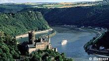 Rhein mit Loreley in St. Goarshausen