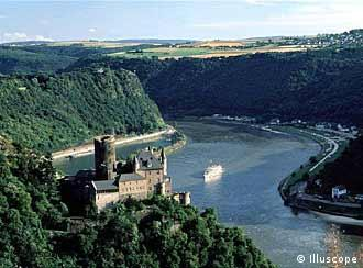 The Rhine is one of Germany's most picturesque waterways